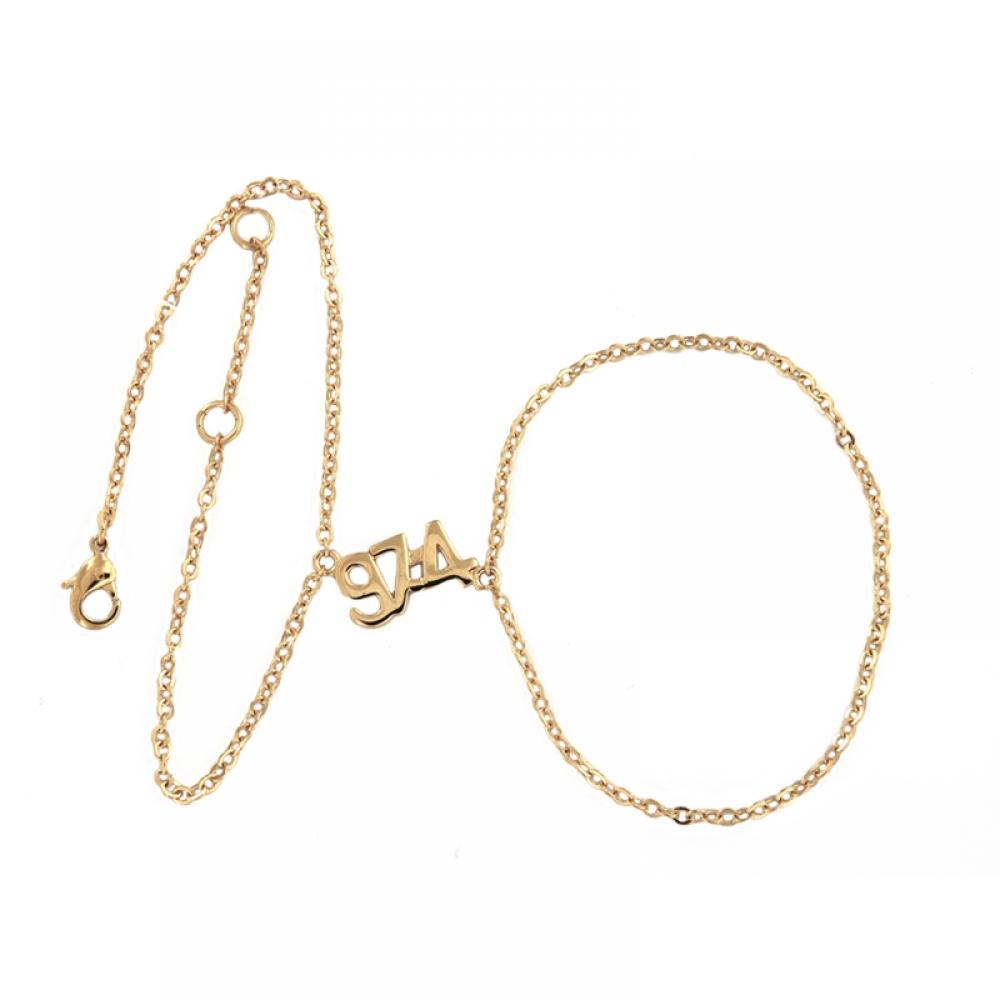 eurosilver - Bracelet Bague Plaqué Or 97-4