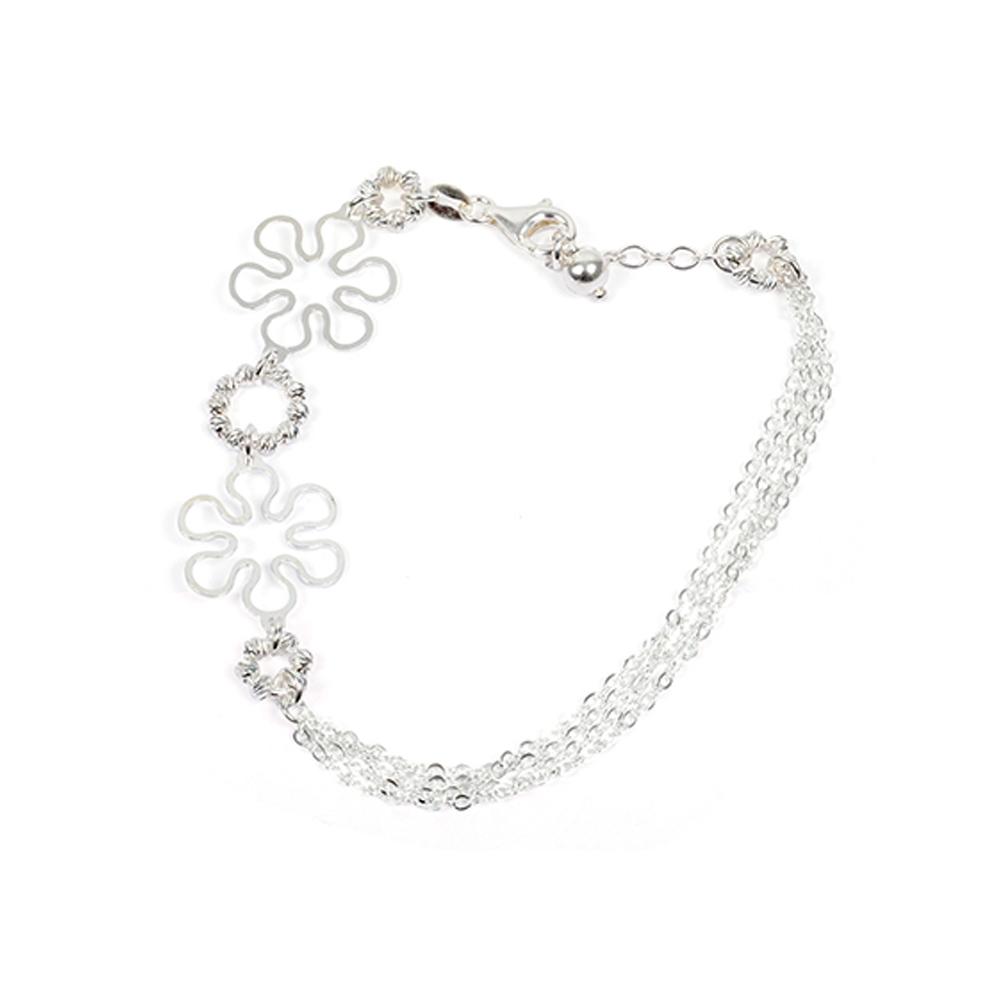 eurosilver - Bracelet fleur