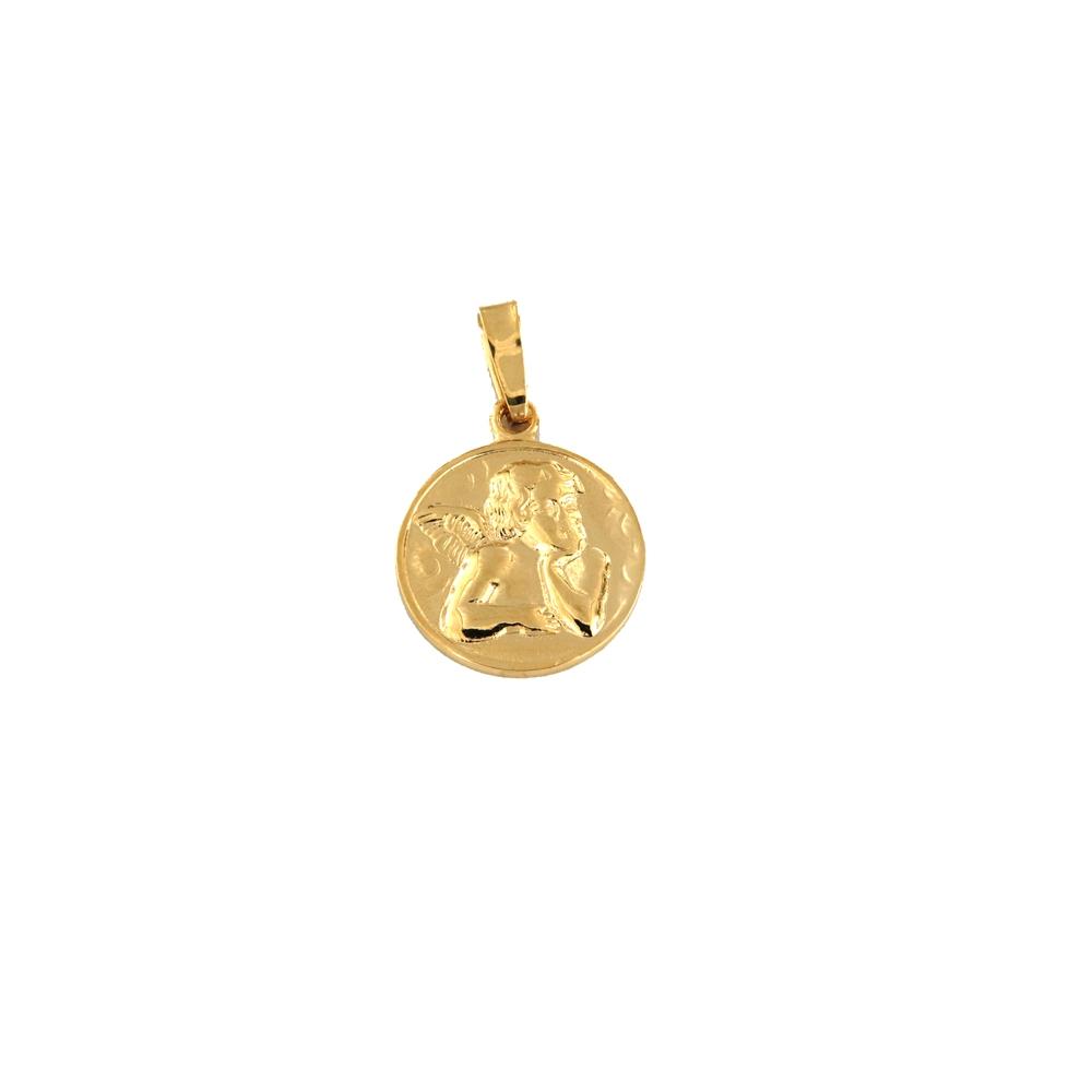 eurosilver - Médaille Ange 16mm Plaqué Or