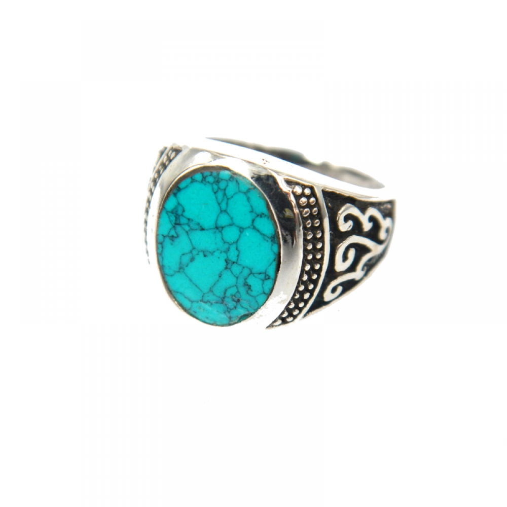 eurosilver - Bague Homme Turquoise