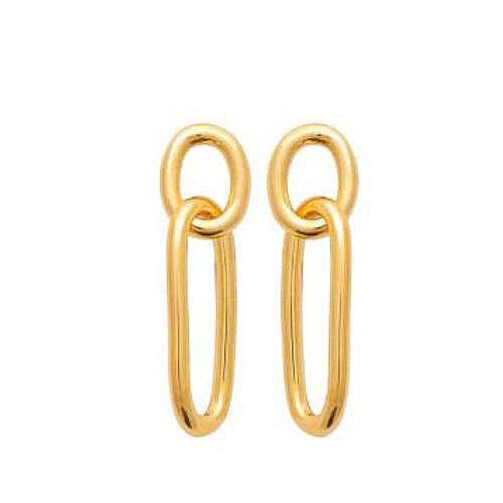 eurosilver - Boucles d'oreilles Pendantes Plaqué Or