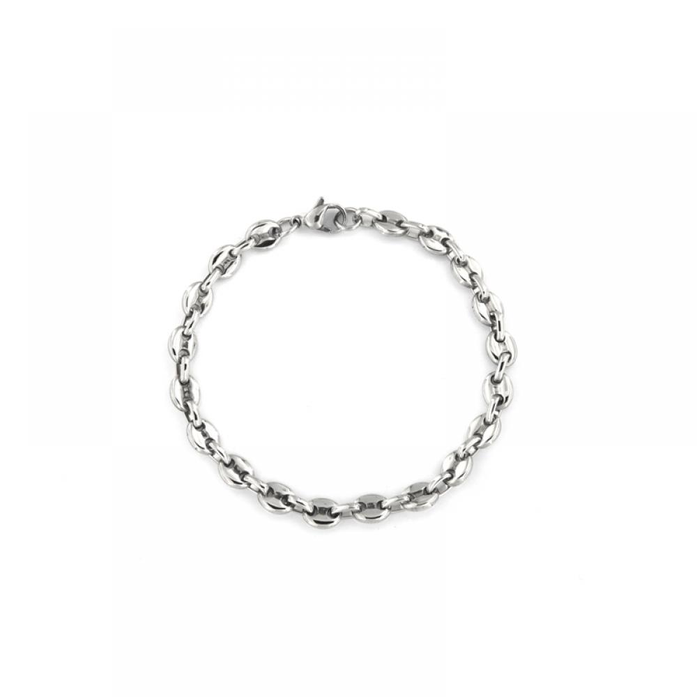 eurosilver - Bracelet Acier Grain de Café 6mm
