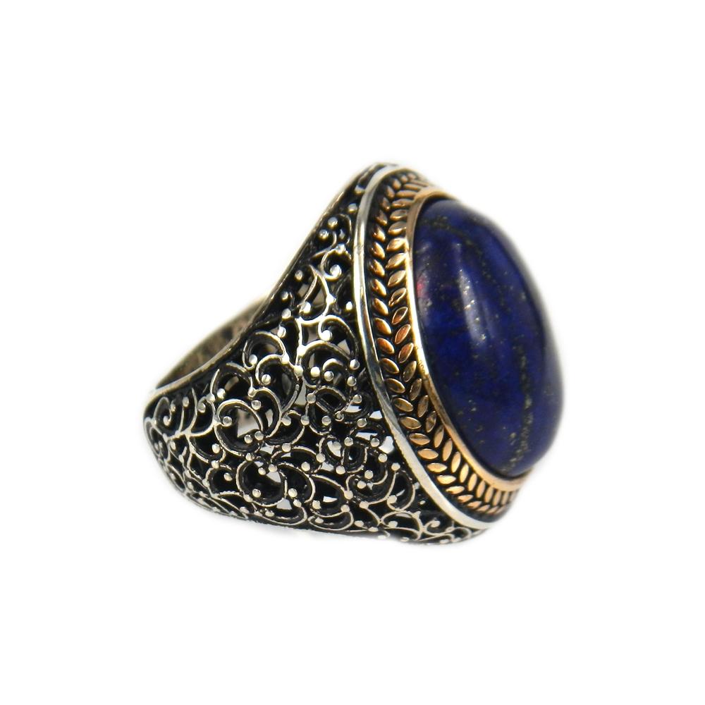 eurosilver - Bague Argent Homme Lapis Lazuli