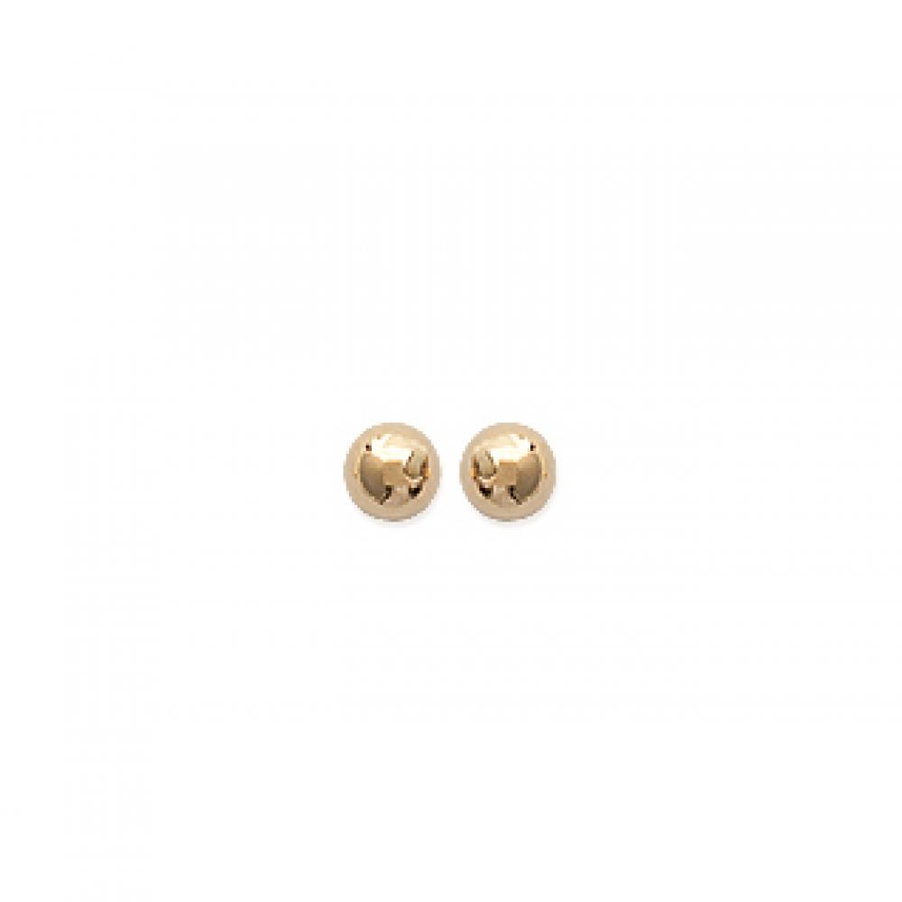 eurosilver - Boucles d'oreille Boule Plaqué Or
