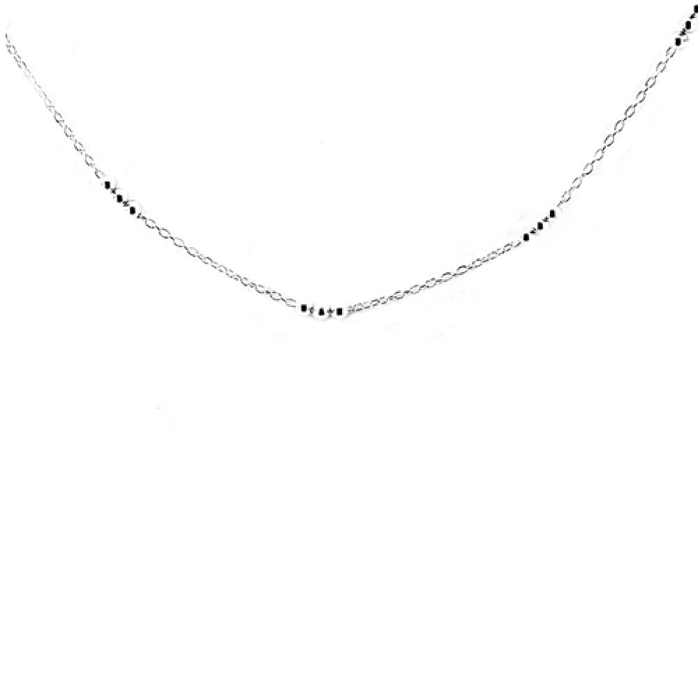 eurosilver - Collier Forçat Boule Argent 100cm