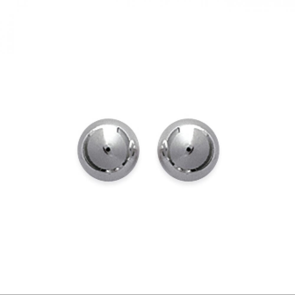eurosilver - Boucles d'oreilles boule rhodiée 7mm