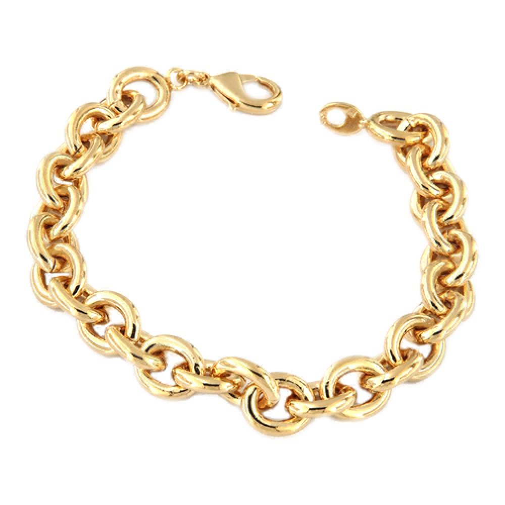 eurosilver - Bracelet Oval Plaqué Or