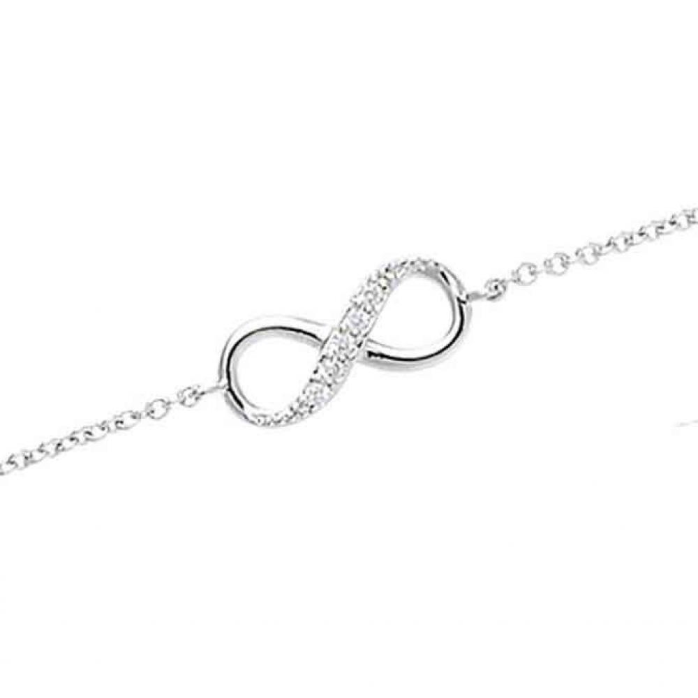 eurosilver - Bracelet Argent Infini
