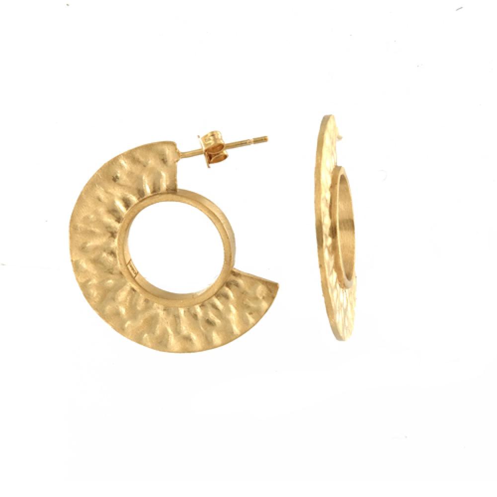 eurosilver - Boucles d'oreilles Martelet Plaqué or
