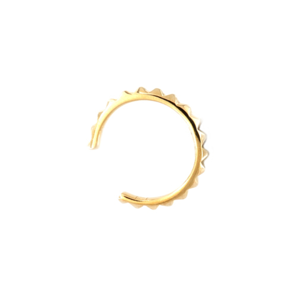 eurosilver - Bague Oreille Striée Plaqué Or