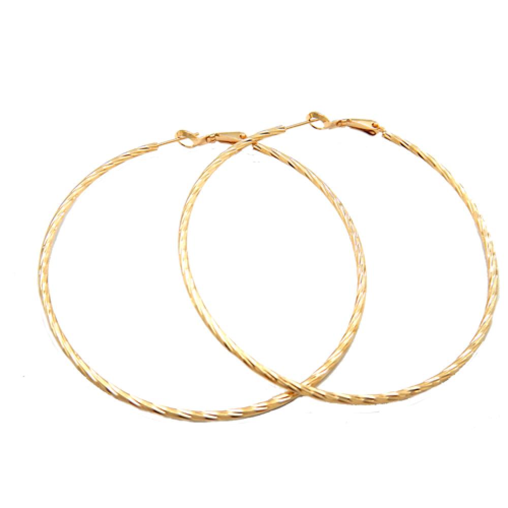 eurosilver - Boucle d'oreille créole diamantée