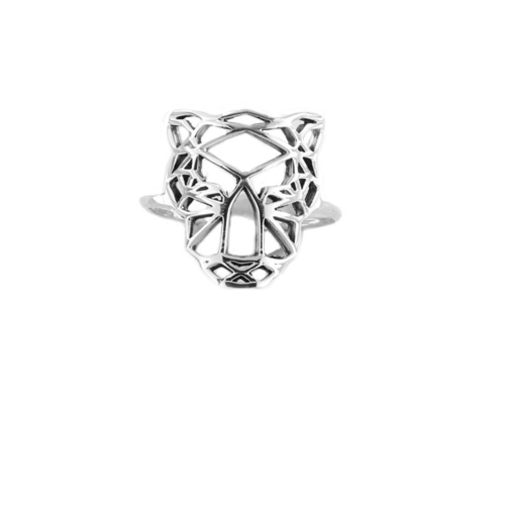 eurosilver - Bague Argent Origami Tigre