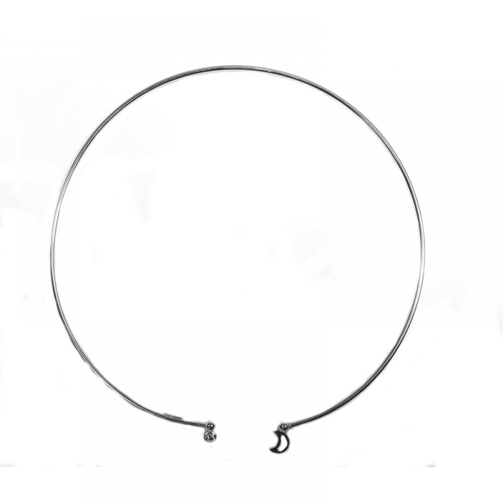 eurosilver - Collier Rigide Argent Lune OZ