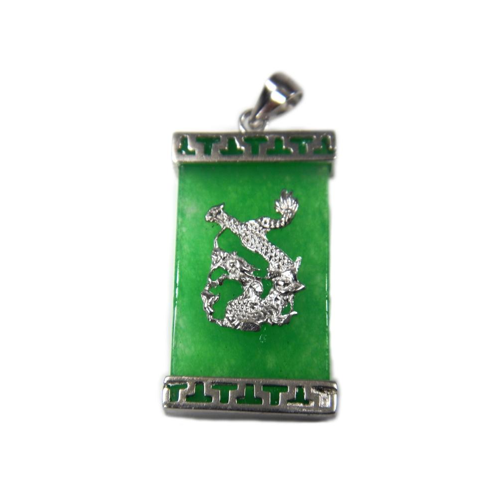 eurosilver - Pendentif Argent Jade Dragon