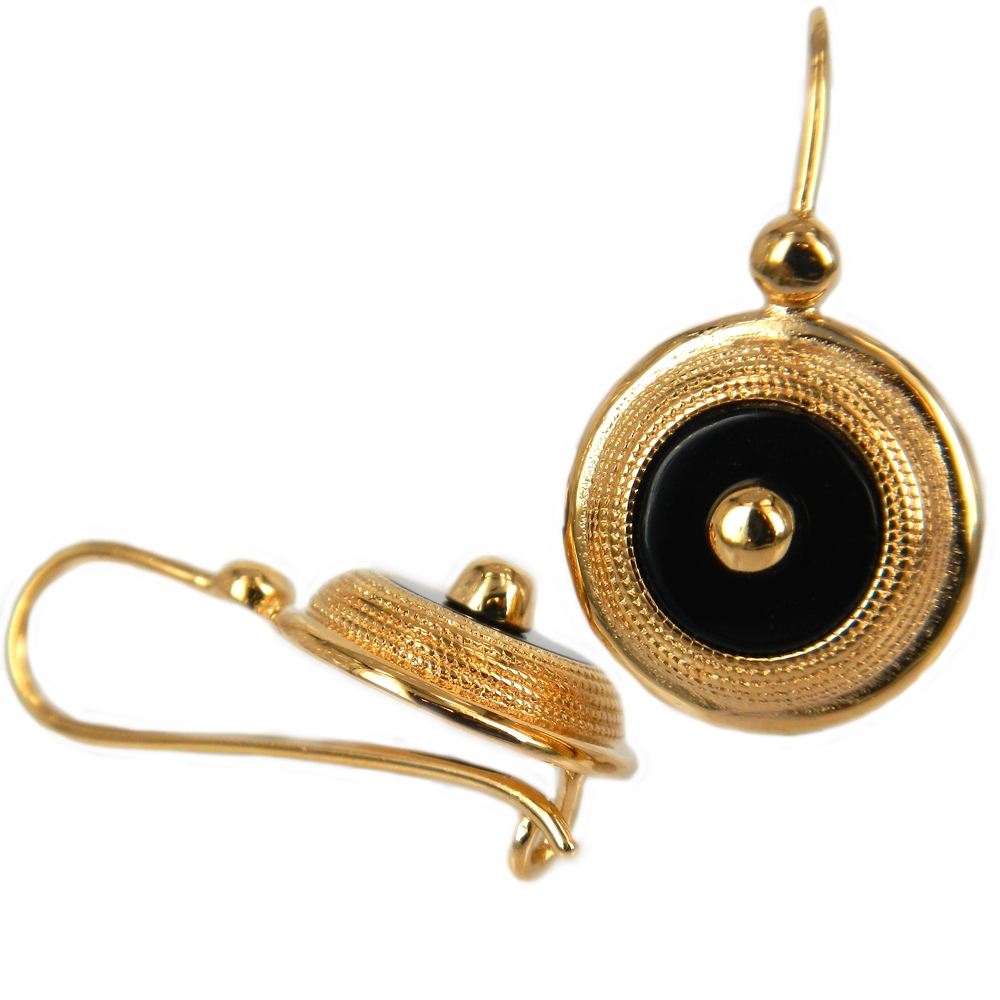 eurosilver - Boucles d'oreilles onyx