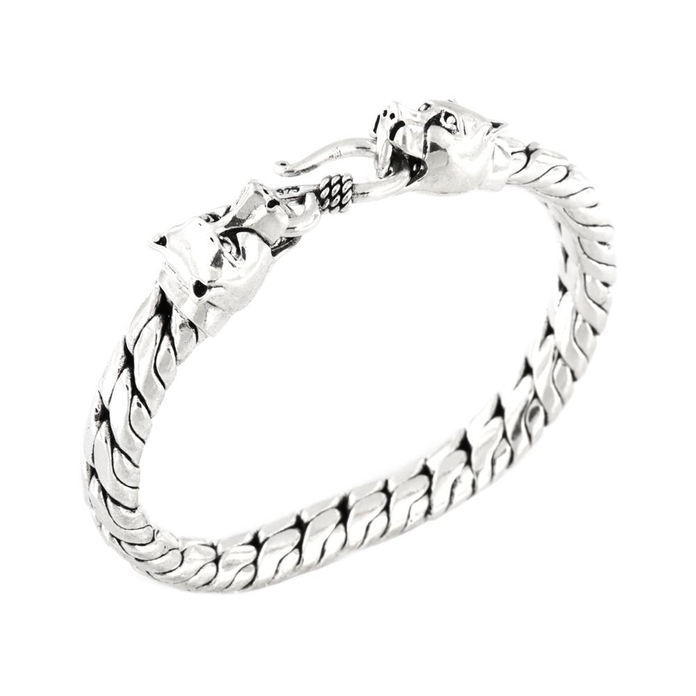 eurosilver - Bracelet Homme Léopard Argent