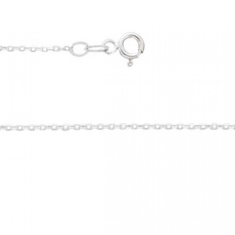 eurosilver - Chaine forçat rhodiée 1,3 mm