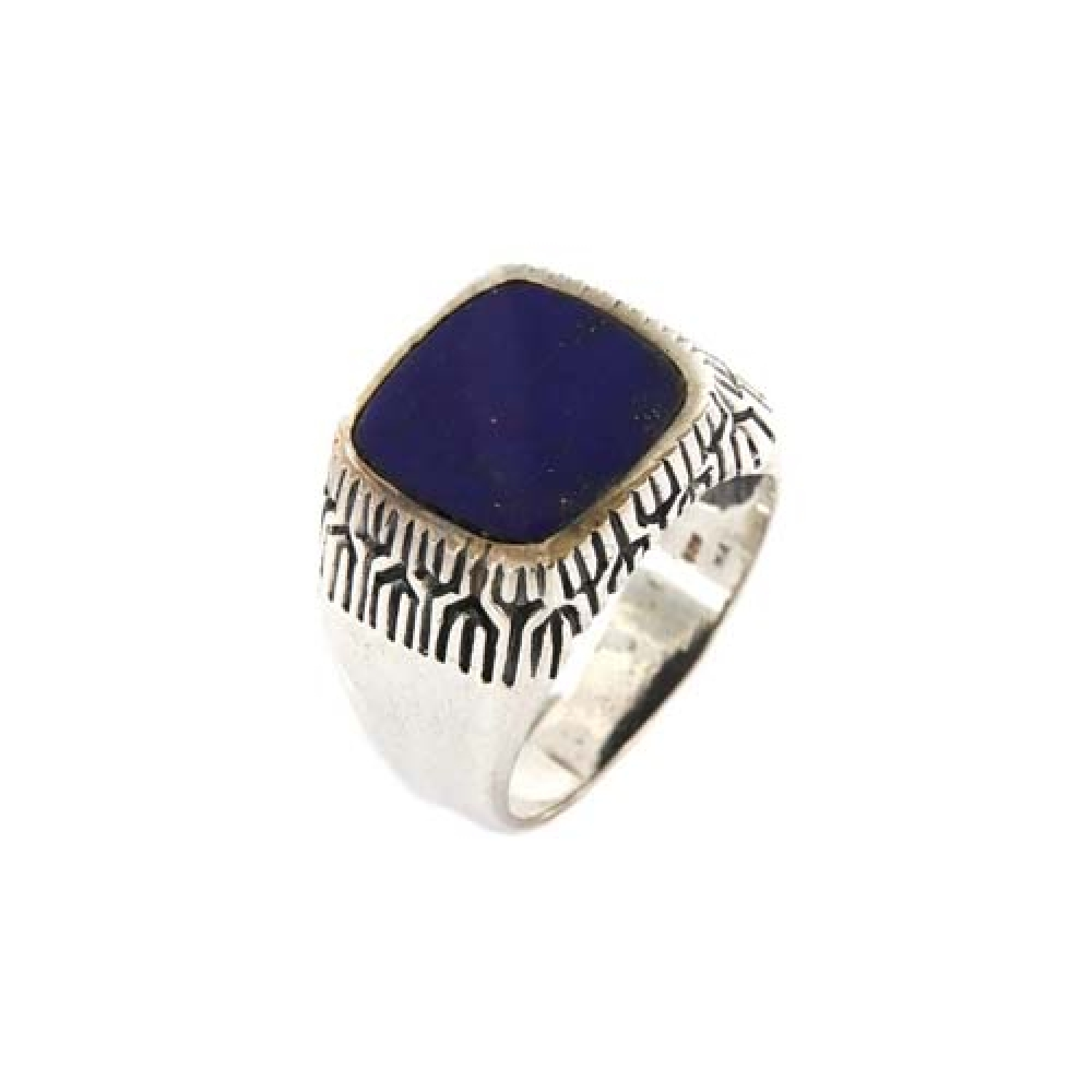 eurosilver - Bague Homme Lapis Lazuli