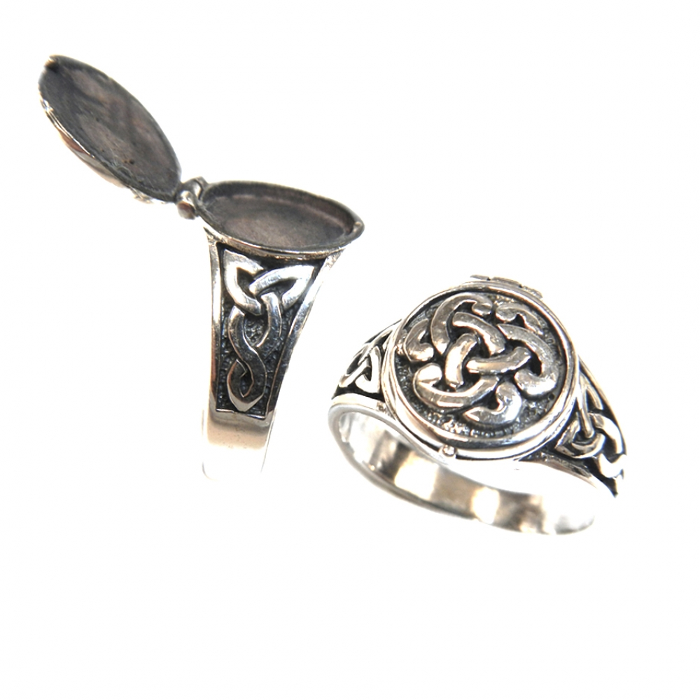 eurosilver - Bague celtic cassolette