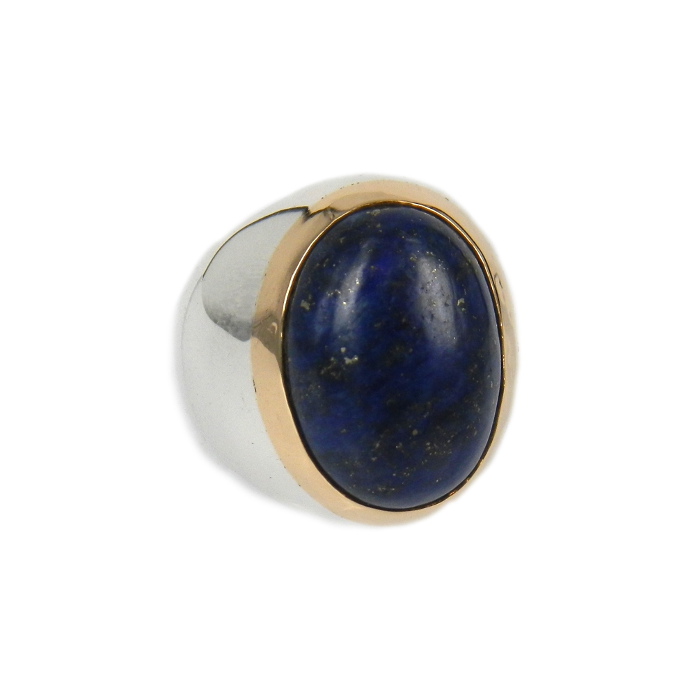 eurosilver - Chevalière Homme Argent Lapis Lazuli