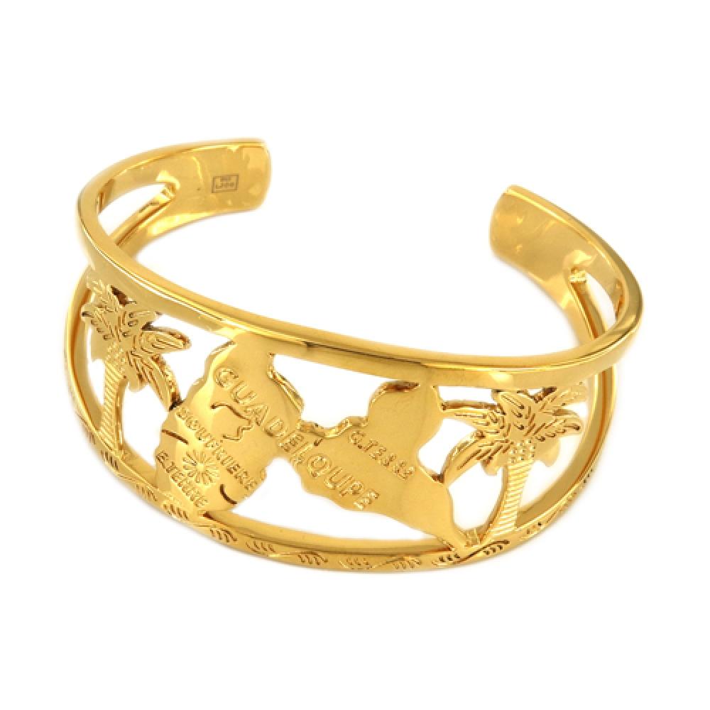 eurosilver - Bracelet Jonc Guadeloupe Doré