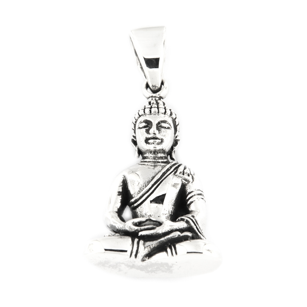 eurosilver - Pendentif Argent Bouddha en Méditation