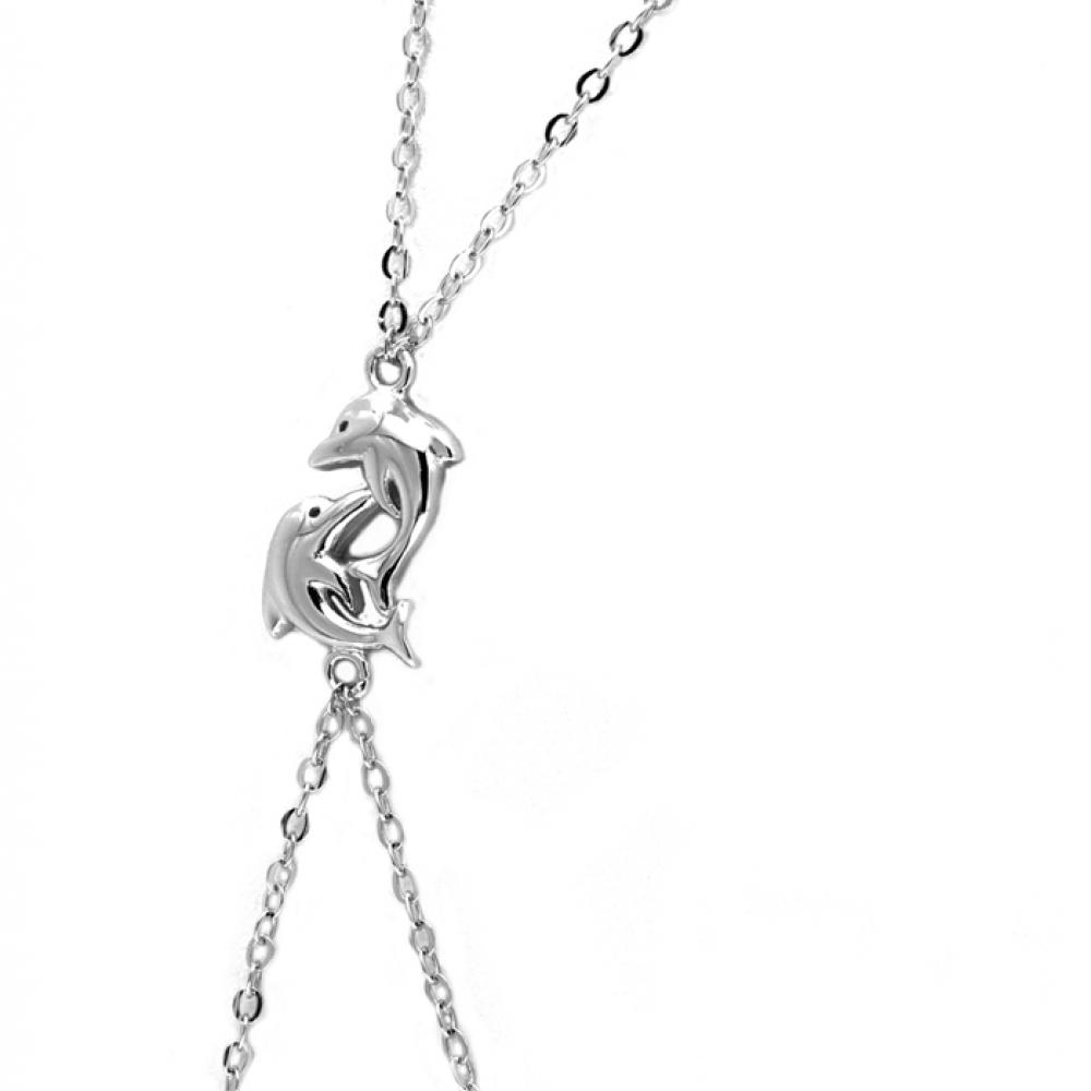 eurosilver - Bracelet Bague Argent Dauphins