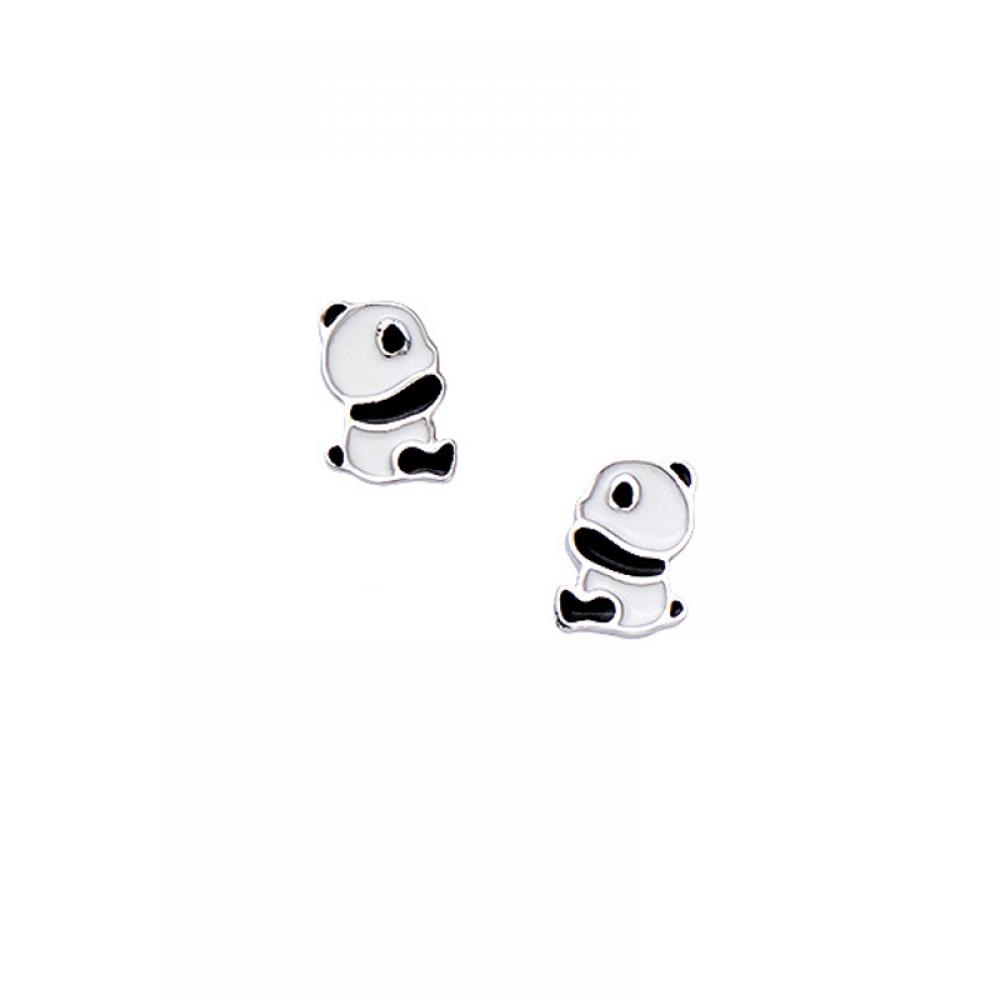 eurosilver - Panda Boucles d'oreilles Enfant  Argent